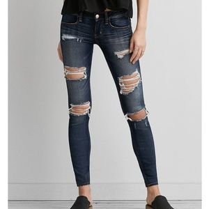 American Eagle Outfitters DENIM X SUPER LOW JEans
